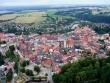 Tábor - letecký pohled na staré město